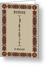 Byrne Written In Ogham Greeting Card