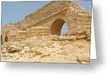 Caesarea Israel Ancient Roman Remains Greeting Card