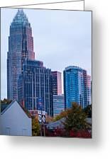 Charlotte City Skyline At Night Greeting Card
