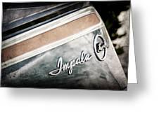 Chevrolet Impala Emblem Greeting Card