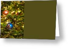 Christmas Tree Ornaments Greeting Card