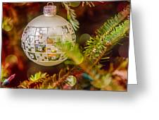 Christmas Tree Ornaments And Decorations Greeting Card