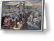Christopher Columbus (1451-1506) Greeting Card