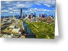 City At The Waterfront, Lake Michigan Greeting Card