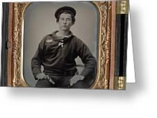 Civil War Sailor, C1863 Greeting Card