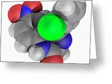 Clonazepam Drug Molecule Greeting Card