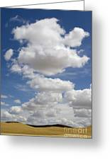 Clouds And Field Greeting Card