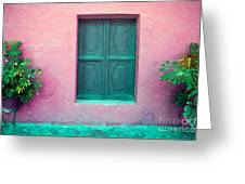 Colorful Old Architecture Details Greeting Card by Yaromir Mlynski
