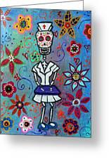 Dia De Los Muertos Nurse Greeting Card