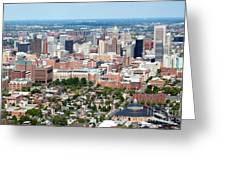 Downtown Baltimore Greeting Card