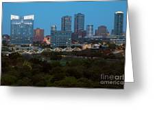 Downtown Fort Worth Texas Greeting Card