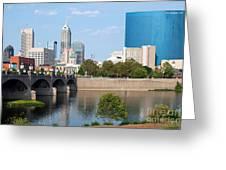 Downtown Indianpolis Indiana Skyline Greeting Card
