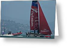 Emirates Team New Zealand Greeting Card by Steven Lapkin