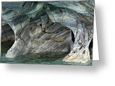 Eroded Marble Shoreline Greeting Card