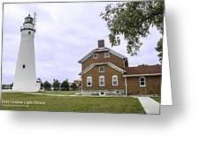 Fort Gratiot Light House Greeting Card