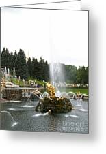 Fountain In Petergof Greeting Card
