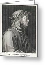 Francesco Petrarch  Italian Poet Greeting Card