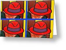 4 Hats Greeting Card