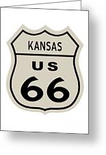 Historical Route 66 Sign Greeting Card