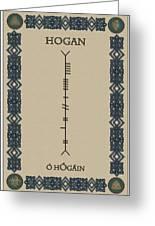 Hogan Written In Ogham Greeting Card