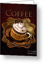 Cappuchino With Choclates Greeting Card