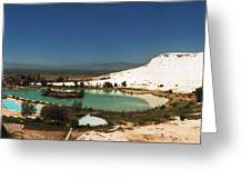 Hot Springs And Travertine Pool Greeting Card