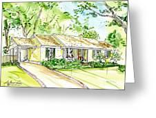 House Rendering Greeting Card