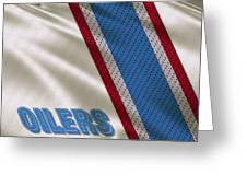 Houston Oilers Uniform Greeting Card
