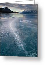 Ice Pattern On Frozen Abraham Lake Greeting Card