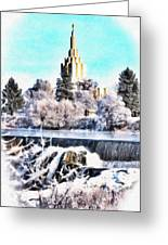 Idaho Falls Temple Greeting Card
