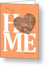 Jacksonville Street Map Home Heart - Jacksonville Florida Road M Greeting Card