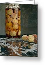 Jar Of Peaches Greeting Card