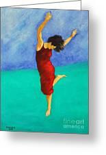 Jump Of Joy Greeting Card