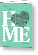 Las Vegas Street Map Home Heart - Las Vegas Nevada Road Map In A Greeting Card