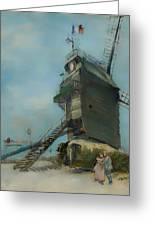 Le Moulin De La Galette Greeting Card