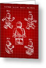 Lego Figure Patent 1979 - Red Greeting Card
