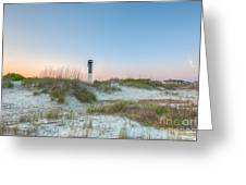 Sullivan's Island Dunes To Lighthouse View Greeting Card