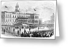 Lincoln's Funeral, 1865 Greeting Card