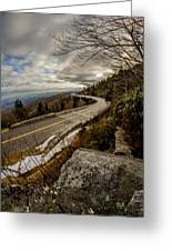Linn Cove Viaduct During Winter Near Blowing Rock Nc Greeting Card