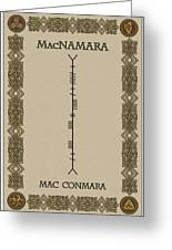 Macnamara Written In Ogham Greeting Card