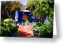 Majorelle Garden Marrakesh Morocco Greeting Card