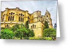 Malaga Cathedral In Andalusia Greeting Card