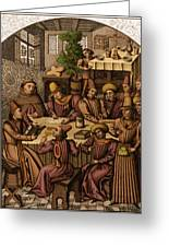 Medieval Accountants, 1466 Greeting Card