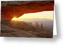 Mesa Arch Greeting Card by Tom Cuccio