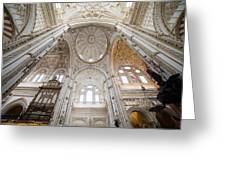Mezquita Cathedral Interior In Cordoba Greeting Card
