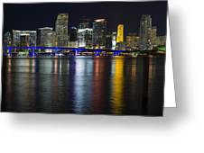 Miami Downtown Skyline Greeting Card