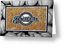 MILWAUKEE BREWERS Greeting Card by Joe Hamilton