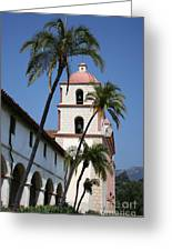 Old Mission Santa Barbara Greeting Card