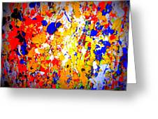 Modern Abstract Painting Original Canvas Art Wild By Zee Clark Greeting Card