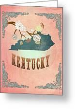 Modern Vintage Kentucky State Map  Greeting Card